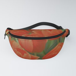 Red Tulips Field Fanny Pack