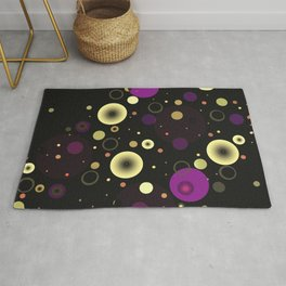Circles with black Rug