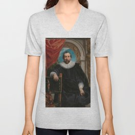 Renaissance Art   Portrait of Rogier le Witer Unisex V-Neck