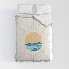 Sun and Waves Boho  Comforters