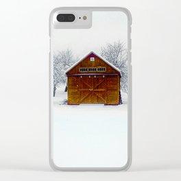 Cedar Snow Clear iPhone Case