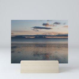 Sunset over the sea Mini Art Print