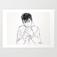 alex turner Art Prints featuring Alex Turner. by AmyLianneMuir