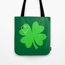 Shamrock St Patrick's Day Gift, Green Clover T-shirt & Tote Bag Tote Bag