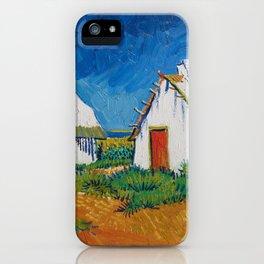 Vincent van Gogh - White cottages at Saintes-Maries (1888) iPhone Case