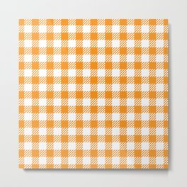 Orange Vichy Metal Print