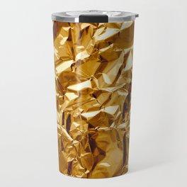 Crumpled Golden Foil Travel Mug