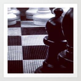 Chess Perspective Art Print