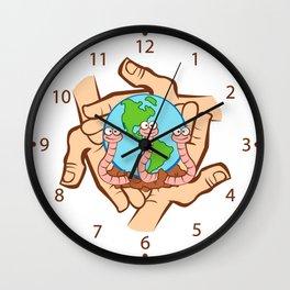 Earthworm Recycler's World Wall Clock