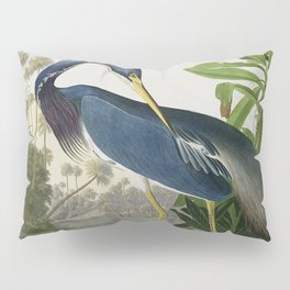 John James Audubon Louisiana Heron Painting Pillow Sham