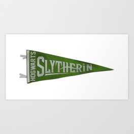 Slytherin 1948 Vintage Pennant Art Print