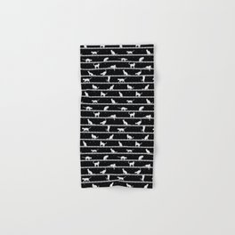 Cats Pattern (B&W) Hand & Bath Towel