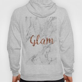 Rose gold on marble - glam Hoody