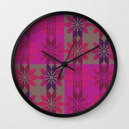 Flower Pattern8 Wall Clock