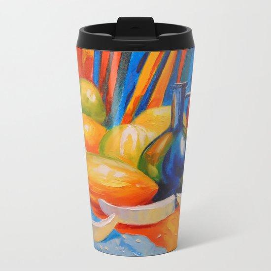 Still life with melon Metal Travel Mug