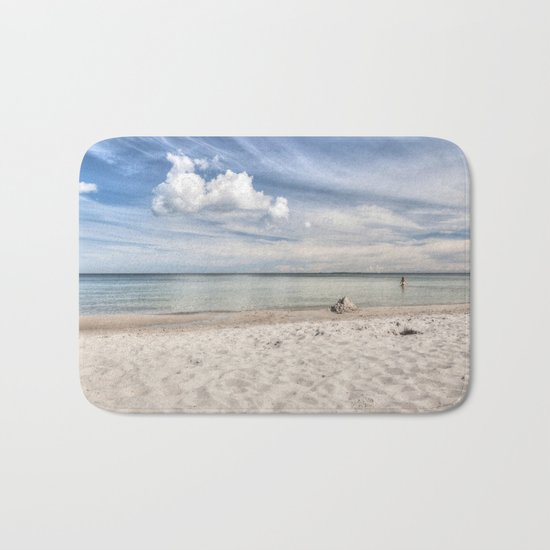 Dream beach Sea Ocean Summer Maritime Navy clouds Bath Mat