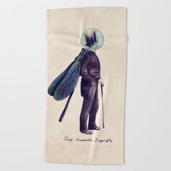 Inspector Dragonfly Beach Towel