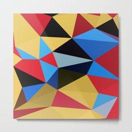 Geometric Abstract Art Pattern Eleven Metal Print