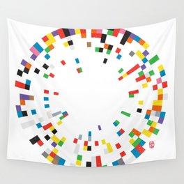 Rainbow Data Wall Tapestry
