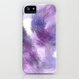 Purple Watercolor Abstract Art iPhone Case