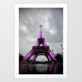 Pink Paris Art Print