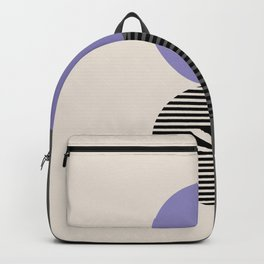 Geomertic Art N21071 Lavender Gray Backpack