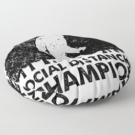 Stay at Home Order Social Distancing Champion Big Foot Floor Pillow