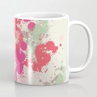splatter Mugs featuring Splatter by C Designz