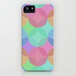 Multicoloured Geometric Layered Circles Digital Pattern iPhone Case