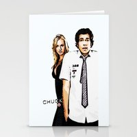 chuck Stationery Cards featuring Chuck by SyafSyaf