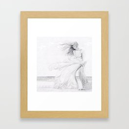 Gracefully Weathering the Storm Framed Art Print