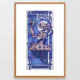 Questo Faccia Framed Art Print