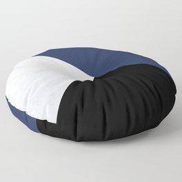 Colour Block Marble Blue Floor Pillow