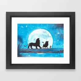 The Lion King Stencil Framed Art Print