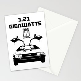 Delorean - Back to the future Stationery Cards
