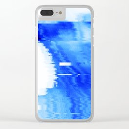 blue statue Clear iPhone Case