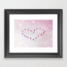 Pin Heart Framed Art Print