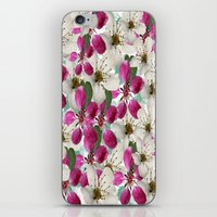 matty healy iPhone & iPod Skins featuring Spring Blossoms Abstract  by Judy Palkimas