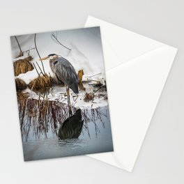 Heron pose along the bank Stationery Cards