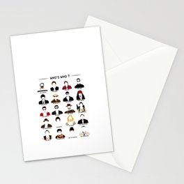 Who's who? Stationery Cards