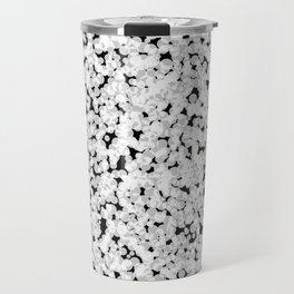 Black and white bubble sponge texture Travel Mug