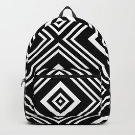Geometric Rhombus Black & White Maze Backpack