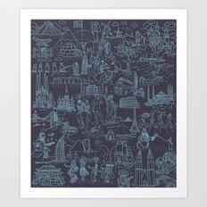 My destinations Art Print