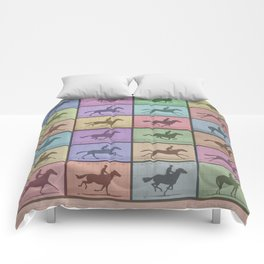Time Lapse Motion Study Horse Color Comforters
