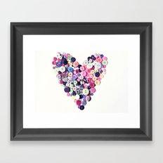 Button Heart Framed Art Print