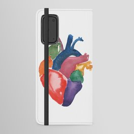 Rainbow Heart Android Wallet Case