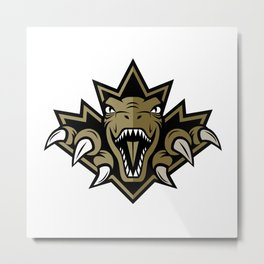 Dino Gold Leaf Metal Print