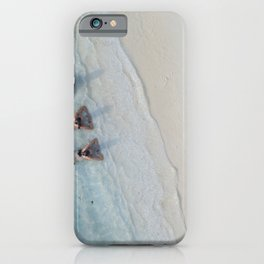 Girl Friends Just Want To Have Fun, Soaking in the Caribbean Waves photograph iPhone Case