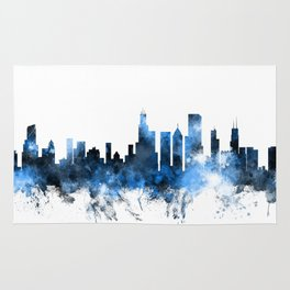 Chicago Illinois Skyline Rug