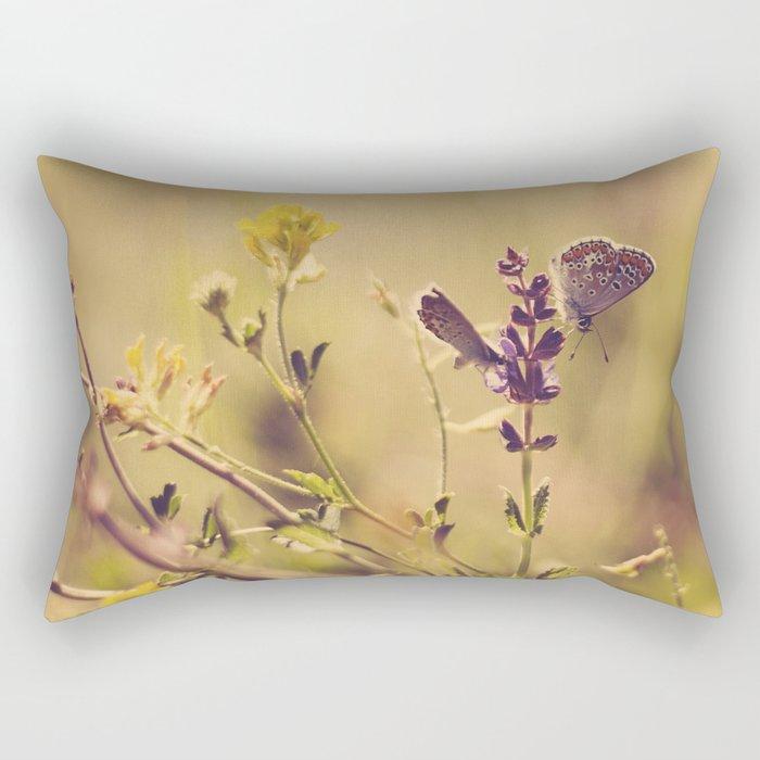 butterfly spring  Rectangular Pillow
